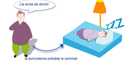 la somnolence précède le sommeil